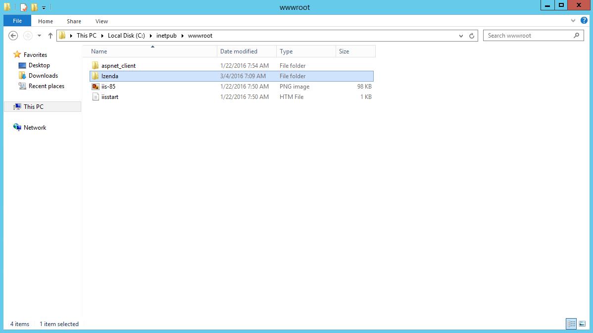 Create Site Folder