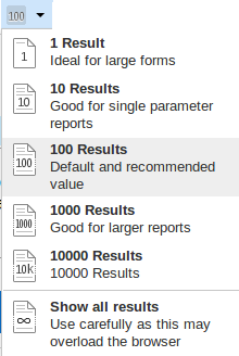Results Per Page Button